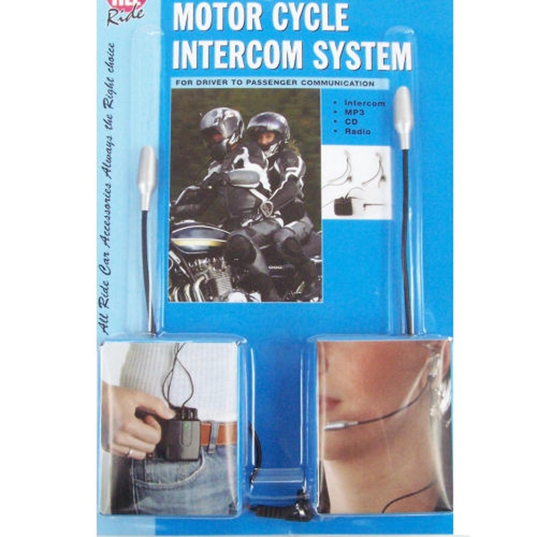 Interphone pour casque moto - 2 personnes - Avec entrée Audio