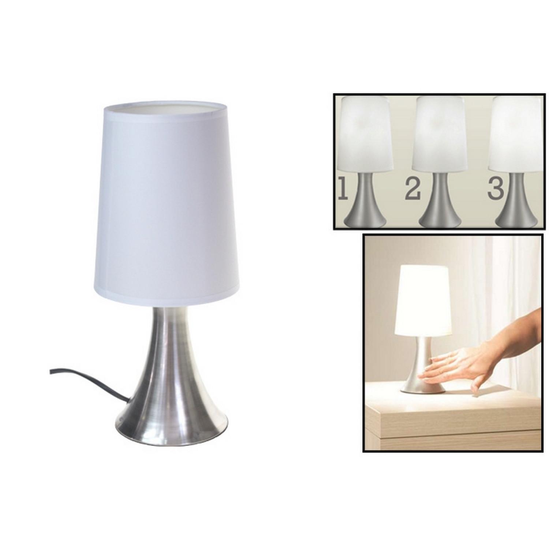 Lampe de chevet - tactile - touch - Blanc