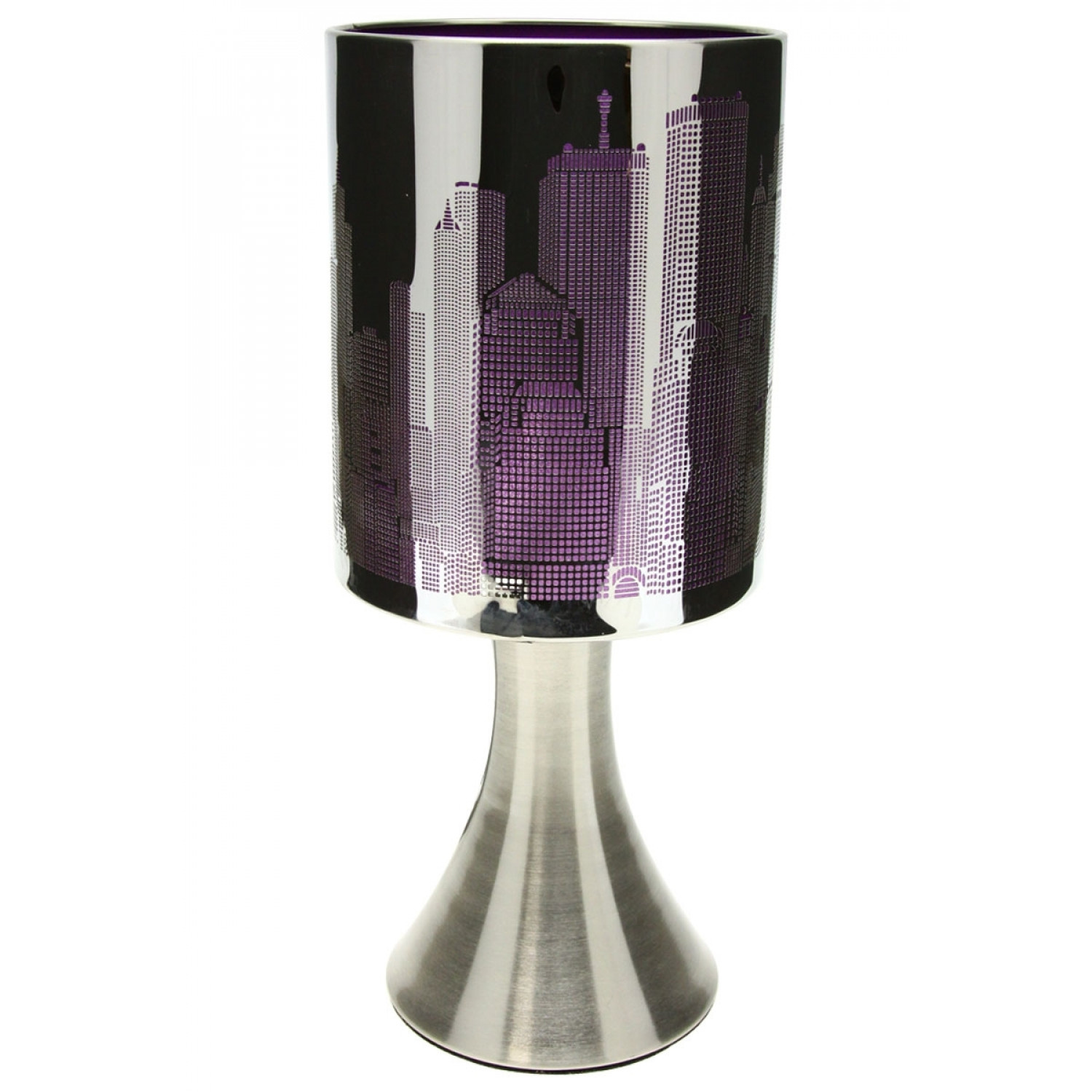 Lampe New York - Tactile - 3 intensités - Violet