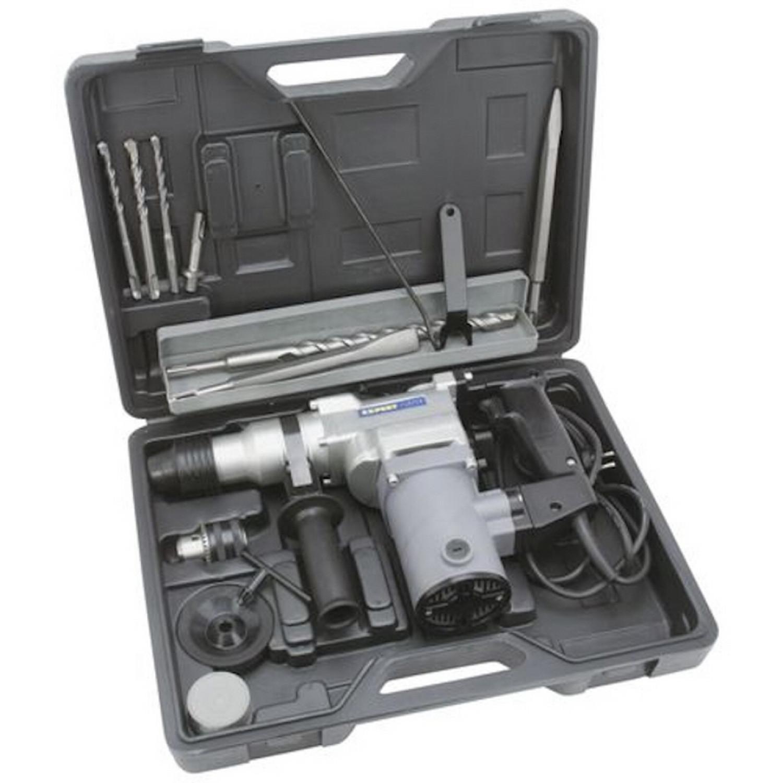 Marteau Perforateur - Système SDS - Puissance 750W + 9 Accessoires - Gris