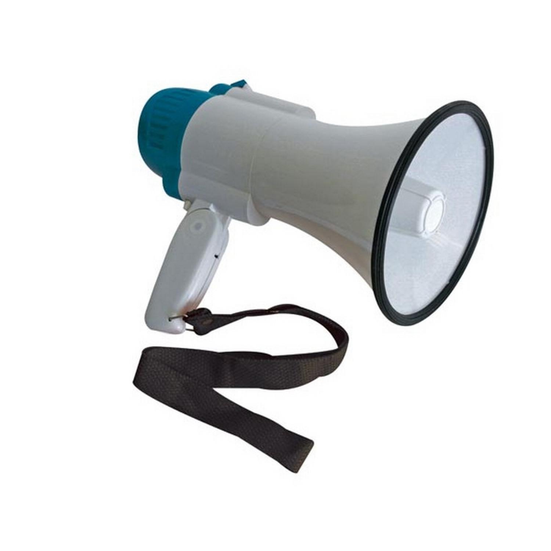 MégaPhone - Porte Voix - Portée jusqu'à 100m - Puissance 10W - Gris