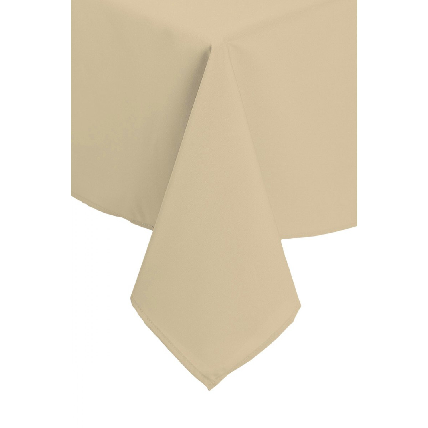 Nappe rectangulaire - Anti tâches - 140x240cm - Beige - Polyester