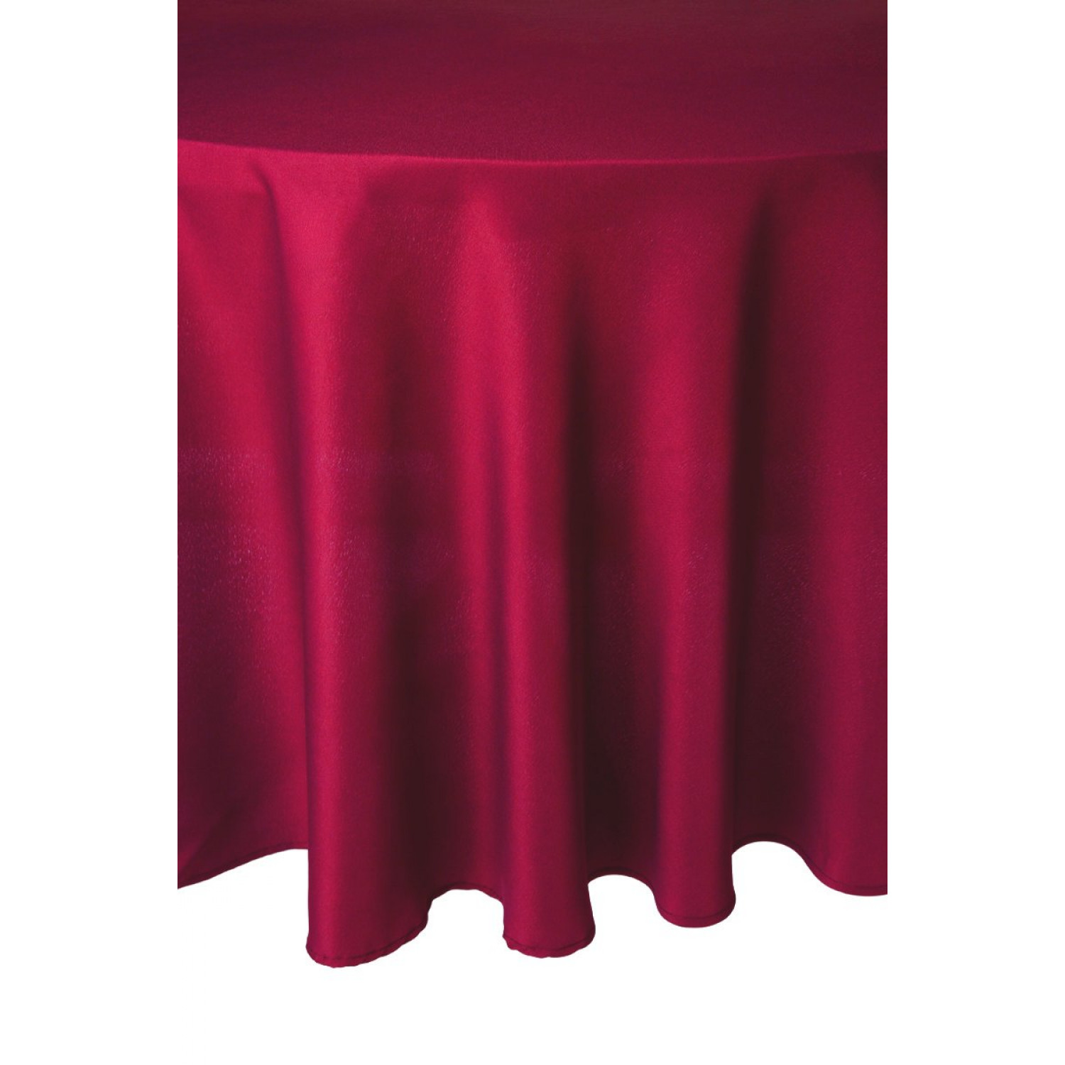 Nappe ronde - Anti tâches- 180cm - Framboise - Polyester