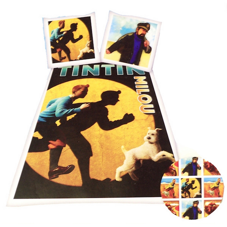 Parure de housse de couette - Tintin spotlight 1 personne - Avec motifs