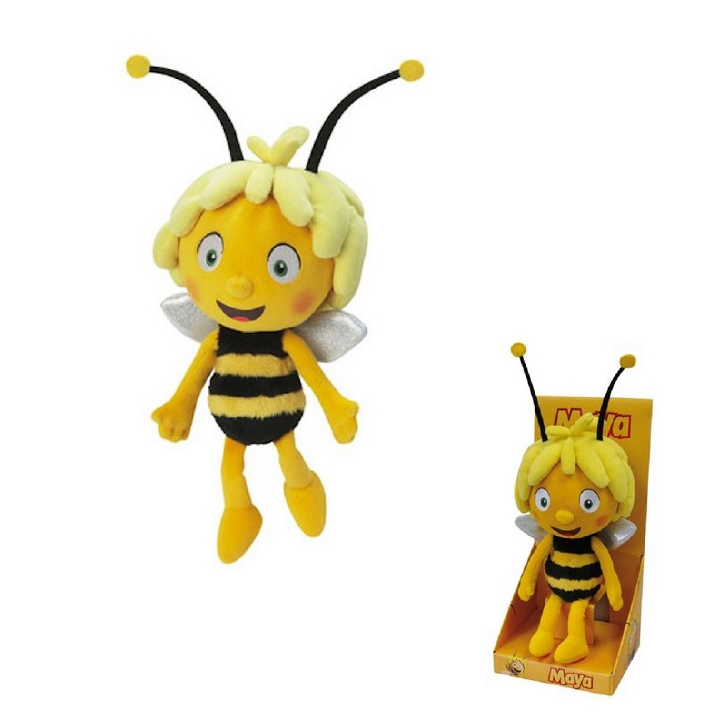 Peluche Maya l'abeille - 23 cm - Jaune