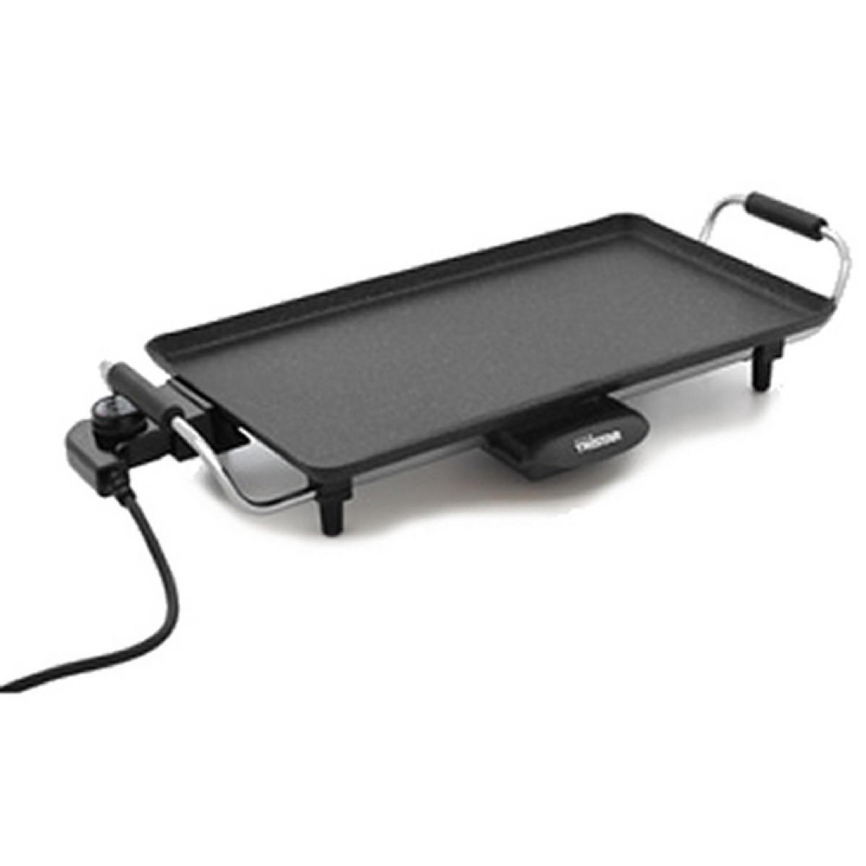 Plancha - Grill électrique céramique - Revêtement titane - 2000W