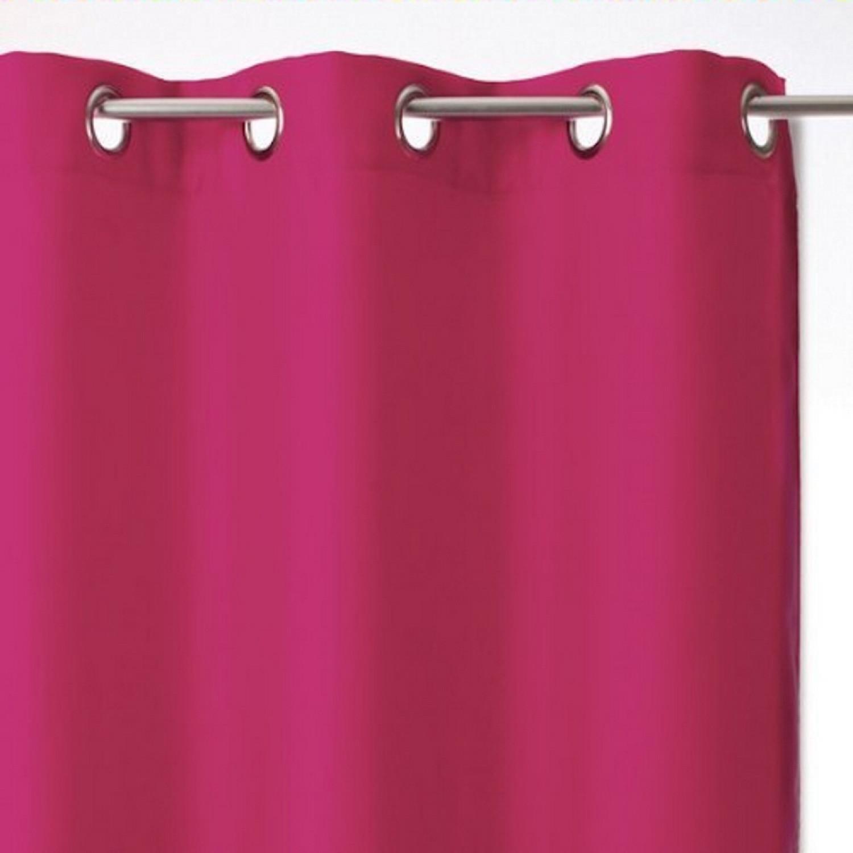 Rideau  - Epais opaque - Framboise