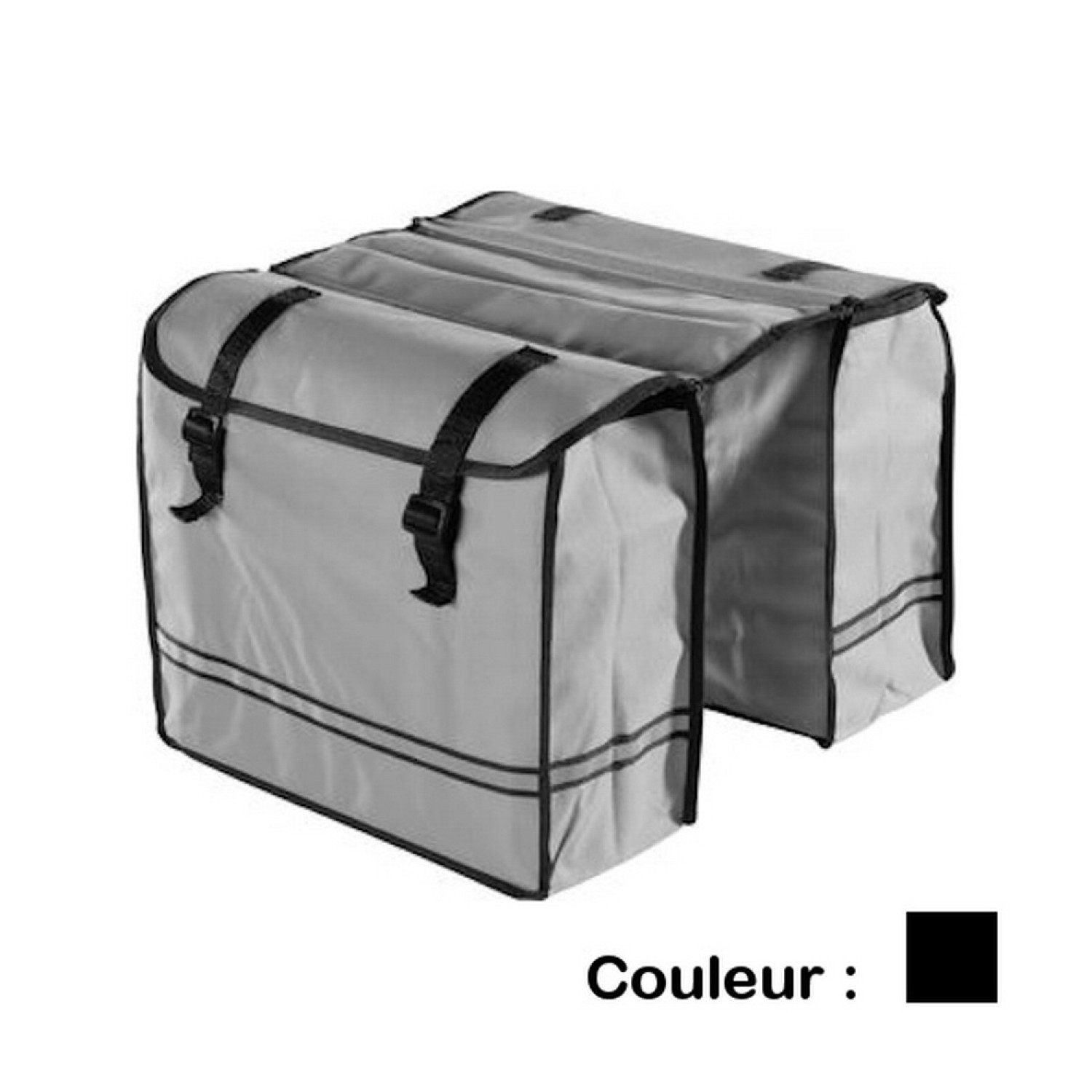 Sacoche vélo - Bicycle Gear - Porte bagage 30L - Noir