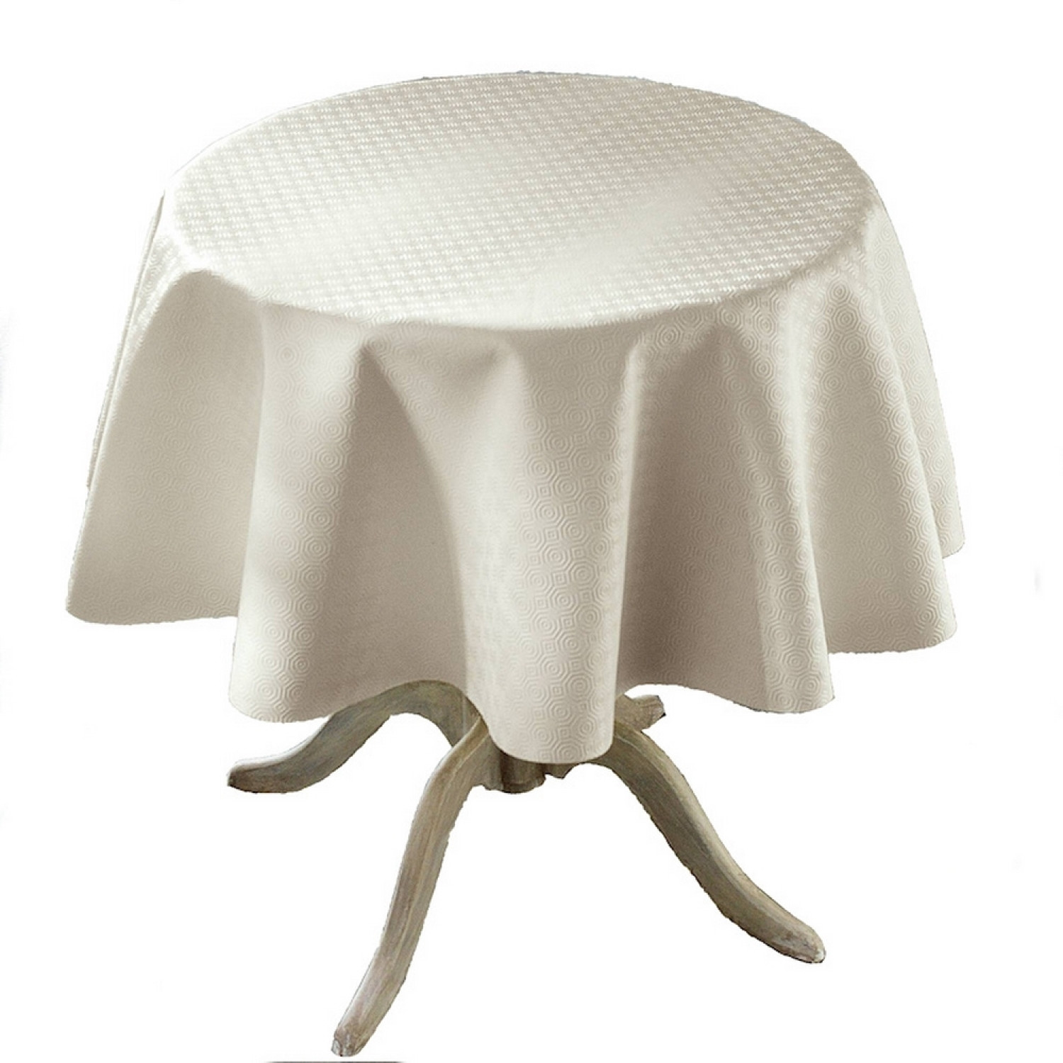 Sous nappe - Protection de table PVC - Ronde - Lavable en machine - Type bulgomme - Beige