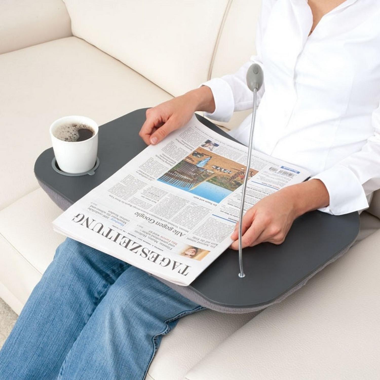 support tablette plateau coussin pour ordinateur portable. Black Bedroom Furniture Sets. Home Design Ideas
