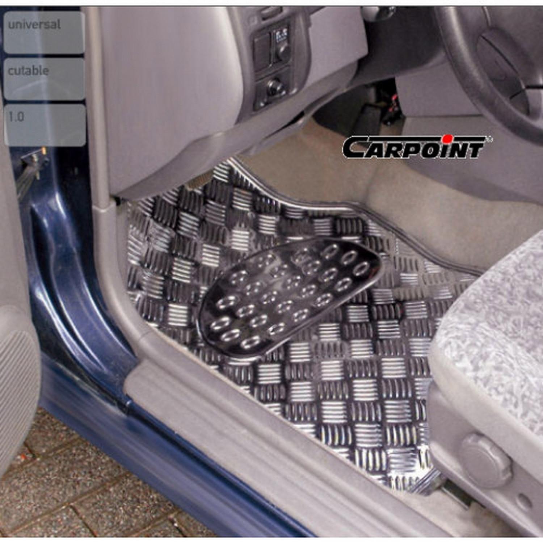 Tapis de sol universel - Pour voiture - Style chromé - 4 pcs