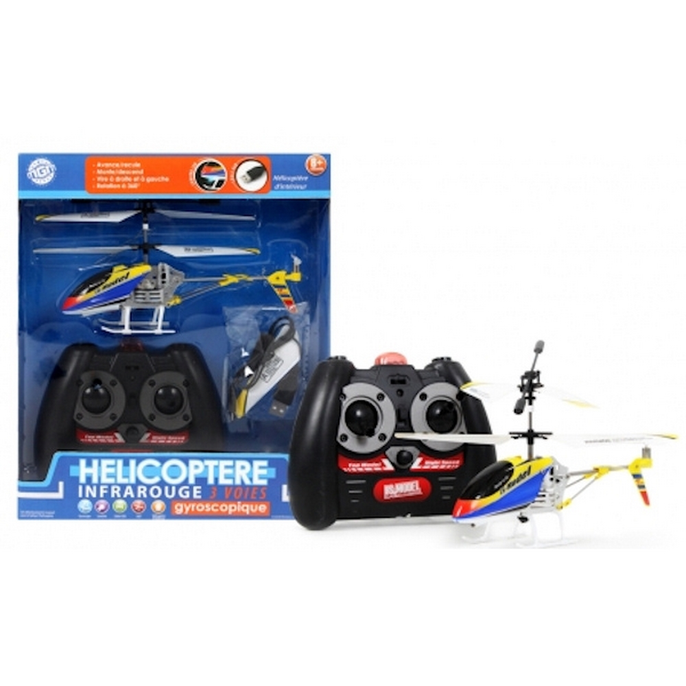 Helicoptere RC - Infra-rouge 3 voies pour 26€
