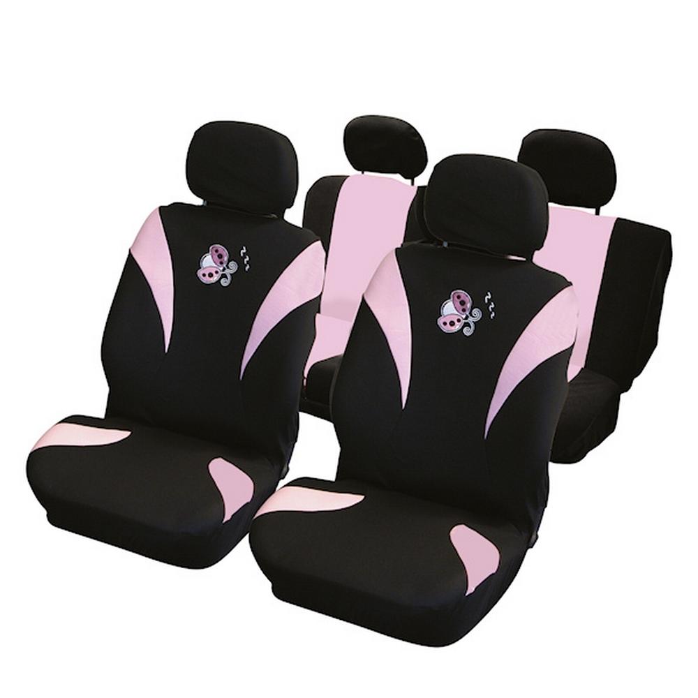 carpoint housse de voiture compatible airbag motif