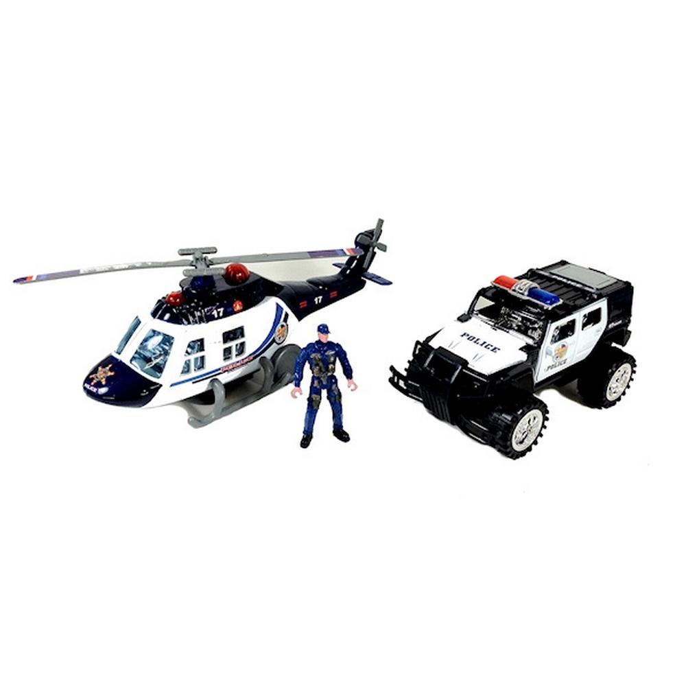 Jouet - Hélicoptère et voiture de police pour 9€