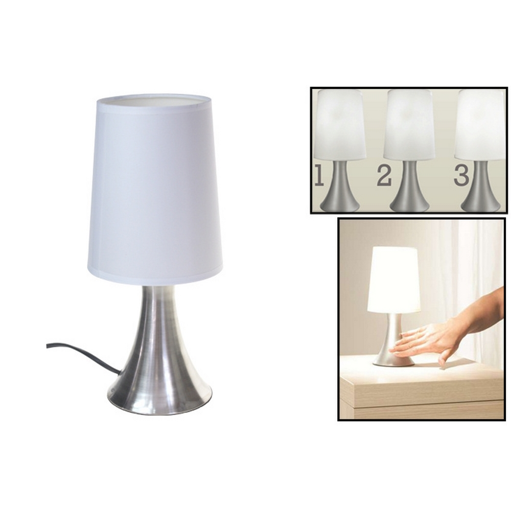 Lampe de chevet tactile touch blanc for Conforama lampe de chevet