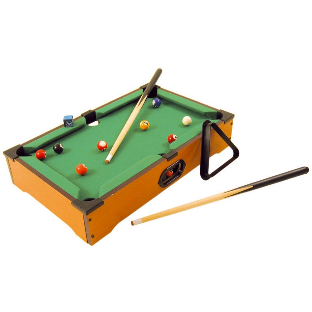 Billard de Table - Mini Billard Américain - 2 Queues + Craie + Billes + Triangle
