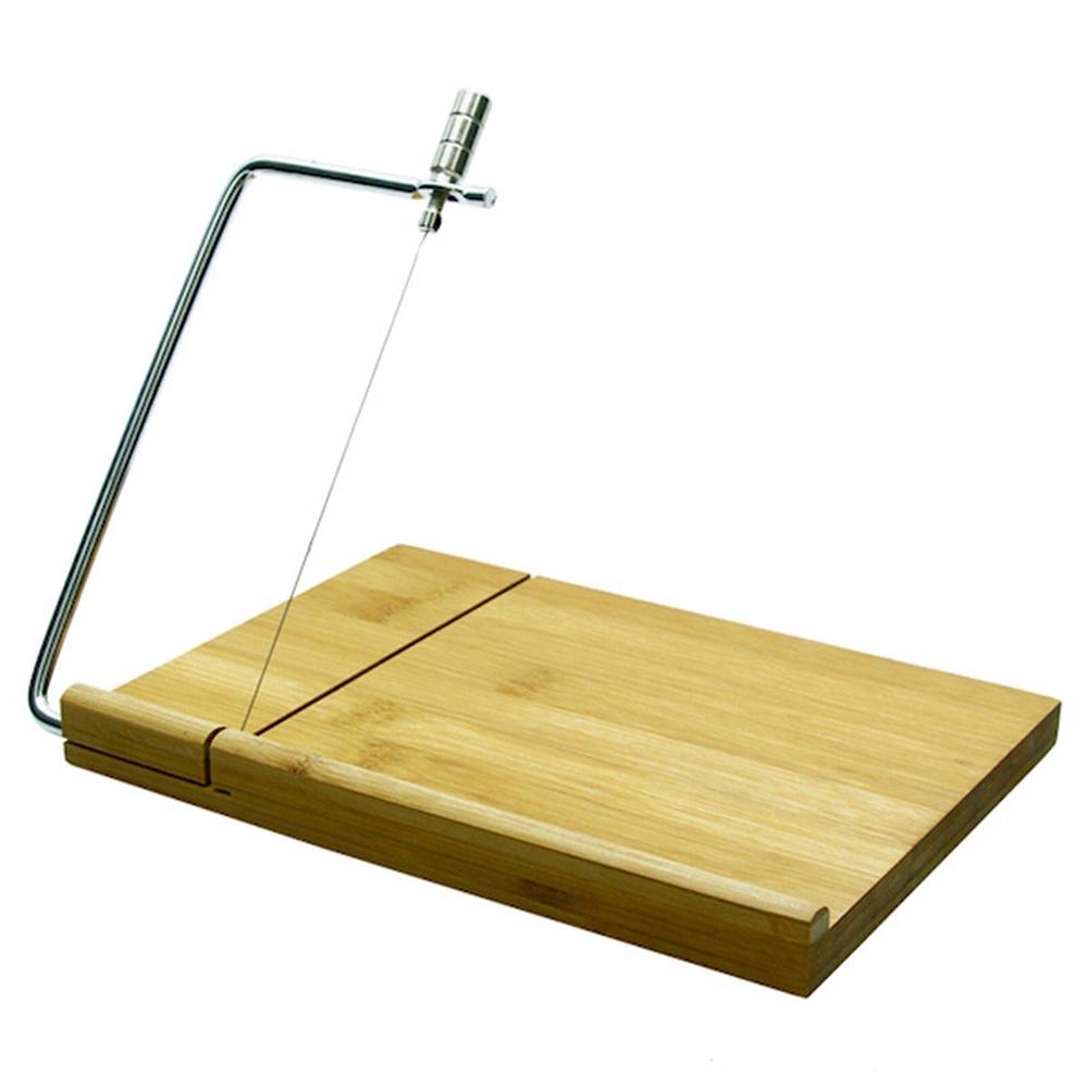 Planche a découper - avec fil a trancher - Bambou pour 6€